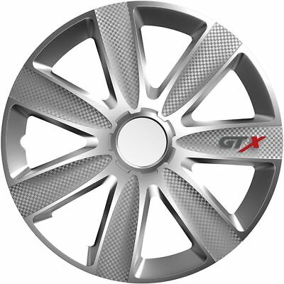 """4X 15"""" Inch Gtx Carbon Wheel Trims Cover Hub Caps For Ford Tourneo Connect 13-On"""
