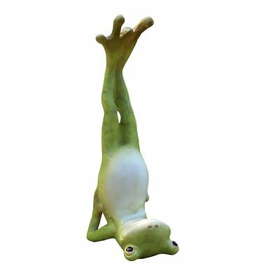Yoga Frog in Shoulder Stand Pose Statue Miniature (4274) NEW 3.5 Inches Tall