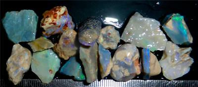 100 Cts #926 Opal Rough And Rough Rubs From Lightning Ridge Australia