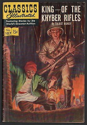 Classics Illustrated #107 HRN 108 VG 4.0 OW King of the Khyber Rifles ORIGINAL