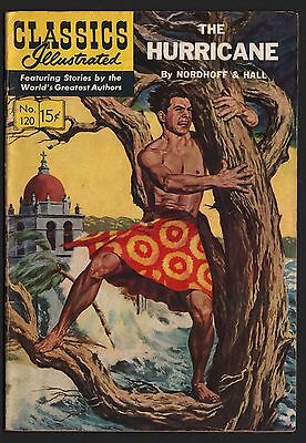 Classics Illustrated #120 HRN 121 VG+ 4.5 OW/W The Hurricane ORIGINAL EDITION