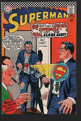 Superman #198 F+ 6.5 White Pages