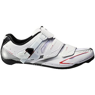 Shimano Sh-Wr83 Women Road Bike Shoes, New, White / Red / Silver, Size 36