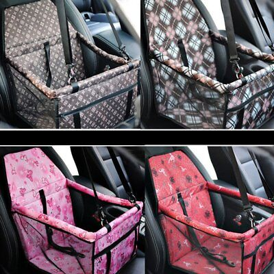 Portable Pet Dog Car Seat Carrier Belt Booster Travel Folding Bag For Puppy Cat