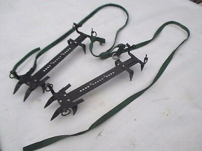 Grivel Vintage Basic 8 Point Crampons Mountaineering Ice Snow Shoe Grip Military