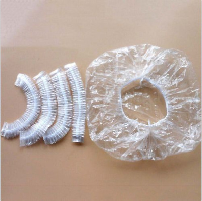Disposable Shower Caps- Bathing Elastic Clear Hair Care Protector Hat Mask Cap/