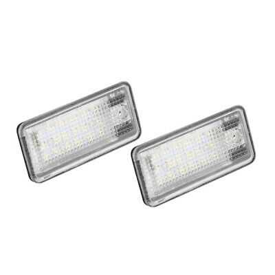 2x 18 LED License Number Plate Light Lamp For Audi A3 S3 A4 S4 B6 A6 S6 A8  Q7C6