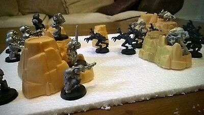 6x Desert Rock Hill Wargame Terrain Cover Scenery Suits Warhammer 40k 40,000