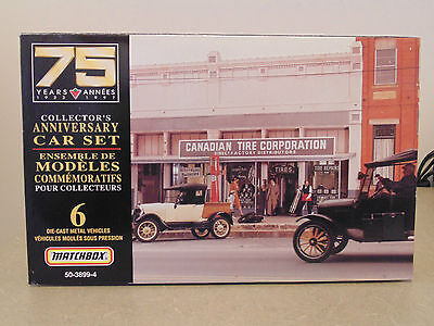 Matchbox Canadian Tire 75 Years Collectors Anniversary 6 Die-Cast Car Set