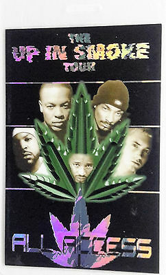 Dr. Dre, Snoop Dogg, Eminem ** Up In Smoke ** All Access Laminate Backstage Pass