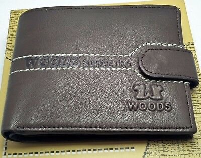 New-Woods-Brown-Leather-Wallets-For-Mens-Genuine-With-6-Credit-Card-Holder