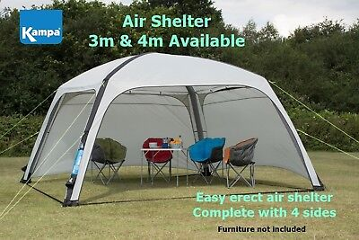 Kampa Air Shelter - Inflatable Gazebo Event Shelter - Available in 3m & 4m