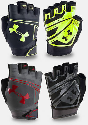 Under Armour Men's UA CoolSwitch Flux Half Finger Workout Gloves 1/2 Finger