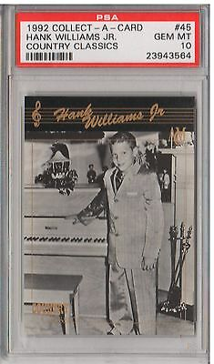 1992 Collect-A-Card #45 - HANK WILLIAMS JR - PSA 10 - Country Classics - POP1