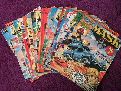 Job Lot of Vintage MASK Comics -  25 Issues In Total