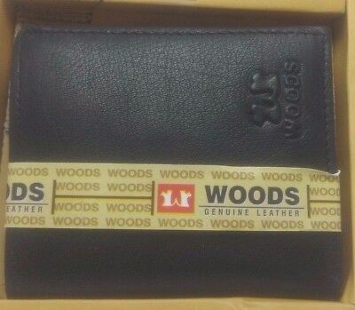 New-Woods-Black-Leather-Wallets-For-Mens-Genuine-With-7-Credit-Card-Holder
