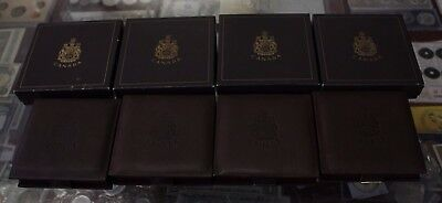 4 Empty wooden box Olympic Gold Coin  with CAO - Not coins