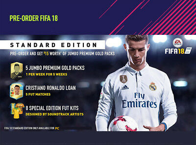 FIFA 18 PRE-ORDER Bonus DLC Key PC Game EA Origin Download Code [UK]