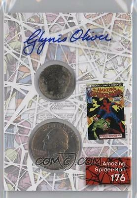 2017 Fleer Ultra Spider-Man Coin & Comic Autographs Glynis Oliver Marsh #CCP19