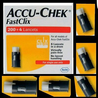 Accu chek fastclix (8 Drums 48 Lancets) New and EXPIRY date 04/2019 or later 🌏⚛