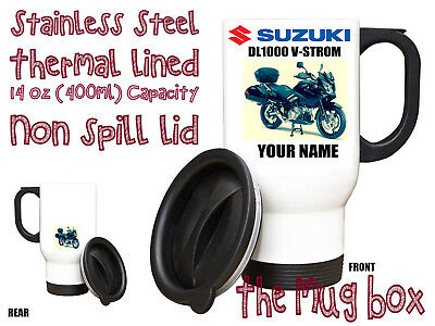 Suzuki DL1000 V-Strom GT Personalised Thermal Steel Mug. Perfect Gift!(MB175)