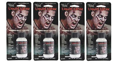 4 X Halloween Liquid Latex Theatrical Quality Scar Latex 29.5ml