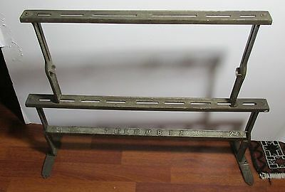 Antique Victorian General Store Mercantile Paper rack Columbia Cast iron 2 Pcs