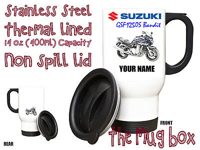 Suzuki GSF1250S Bandit Personalised Thermal Steel Mug. Perfect Gift!(MB193)