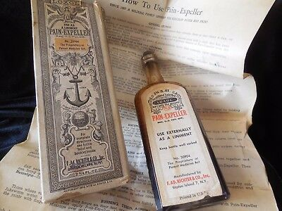 "Loxol ""Pain Expeller"" Medicine Bottle, Box & Insert, Brooklyn NY Circa 1900"