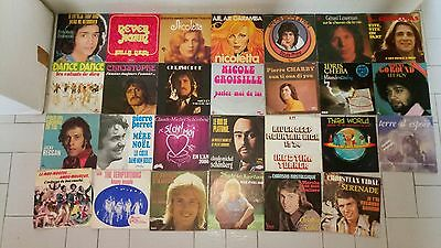 lot de disques vinyles 45 tours