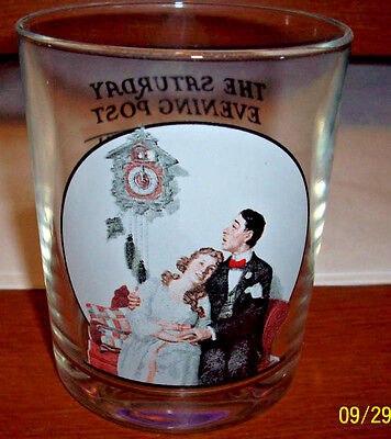 Norman Rockwell Courting after Midnight Glass tumbler