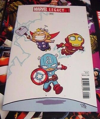 Marvel Legacy #1 Skottie Young Baby Variant Marvel Comics $3 Flat Rate Shipping!