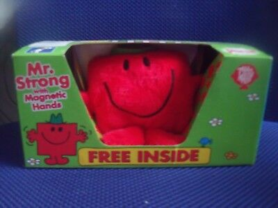 BNIB Persil Mr Men Soft Toy - Mr Strong with magnetic hands
