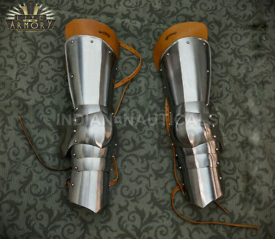 Gothic Leg Guard Armor Set Medieval Knight Crusader Spartan Steel