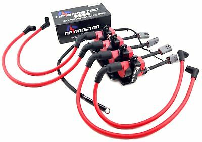 Ignition Coil Kit 10mm Wires w/ Harness & Mounting Bracket For Mazda RX-8 D585
