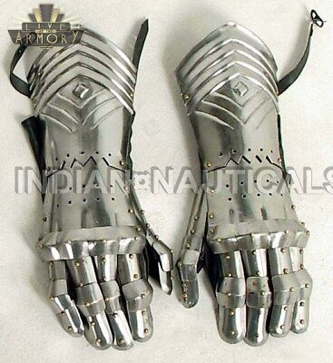 Medieval Gauntlets Armor Metal Gloves-Pair Set For-Costume GL55