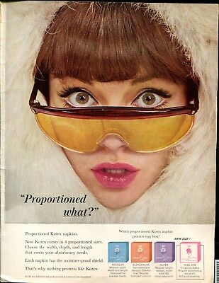 Vintage ad - 1963 Kotex - Proportioned What?