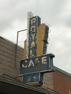 Royal Cafe Sign / Old Diner Sign