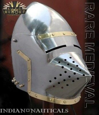 Medieval Norman Viking Mask Helmet King Armor Helm Fully Wearable sca MT497