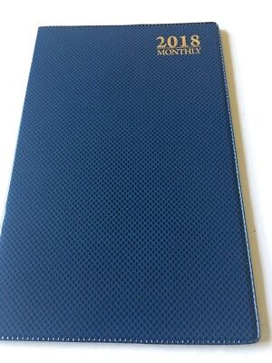 2018 Dated Day Planner Calendar Appointment Book MONTHLY BLUE 5X8
