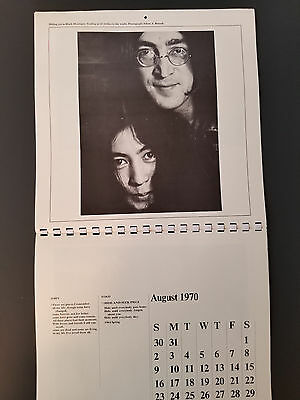 1970 John And Yoko Calendar In Excellent Condition