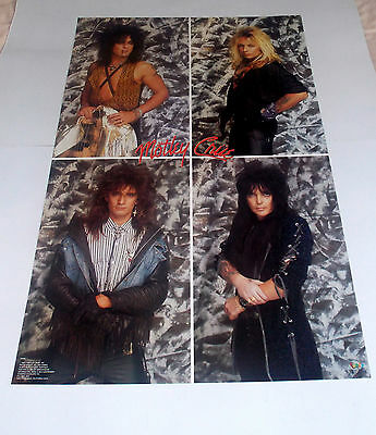 Motley Crue Poster From 1987   22 By 34.5 Inches  Rare And Vintage!!