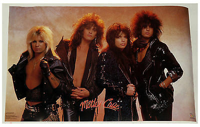 2 Vintage Motley Crue Posters Lot, Rare And Vintage!