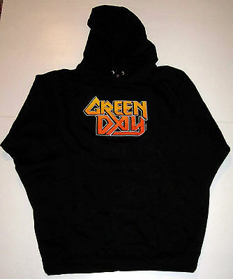 Green Day Logo Hooded Sweatshirt From 2001, Size Large, Punk Rock Hoodie