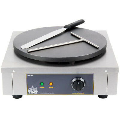 16-Inch Heavy-Duty Commercial Stainless Steel Electric Crepe Pan Maker Dessert