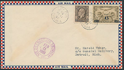1933 AAMC #3307 (variety) London Ont to Detroit Michigan, US CAM No 27