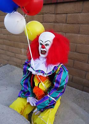 Stephen King It Pennywise Clown Halloween Puppet Doll Tim Curry Rocky Horror Art