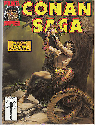 Conan Saga #63 (Jun 1992, Marvel)  (magazine format; b&w)