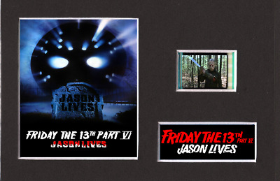 Friday The 13th Jason Lives 35mm Mounted Film Cell Display 6 x 4