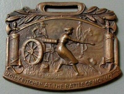 WHITEHEAD & HOAG c.1905 ART NOUVEAU REVOLUTION WAR HEROINE MOLLY PITCHER TAG